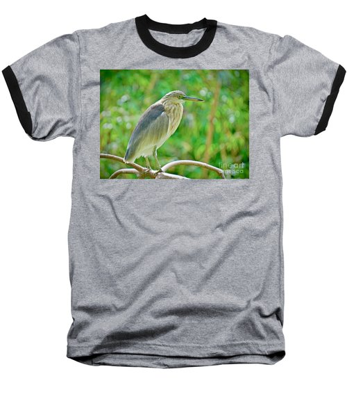Heron On The Edge Baseball T-Shirt