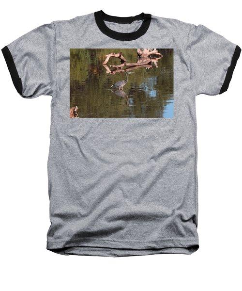 Heron Reflection Baseball T-Shirt