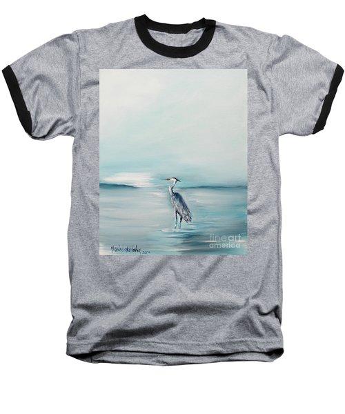Heron Silence Baseball T-Shirt