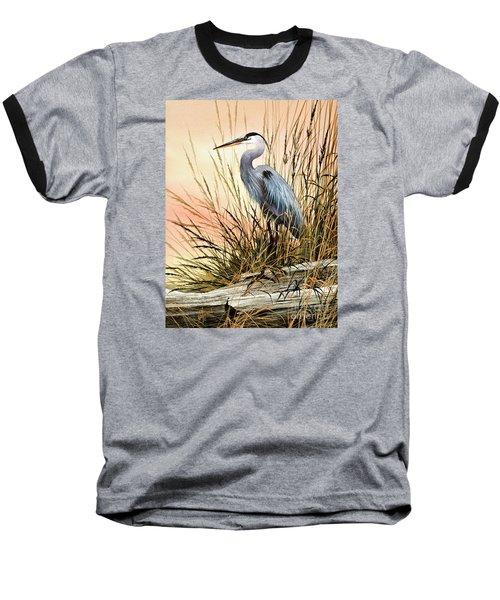 Heron Sunset Baseball T-Shirt