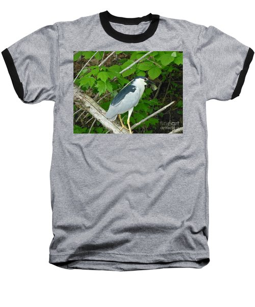 Heron With Dinner Baseball T-Shirt