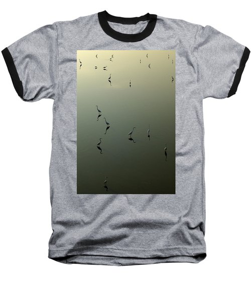 Herons On Lake 367 Baseball T-Shirt
