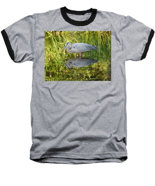 Heron's Reflection Baseball T-Shirt