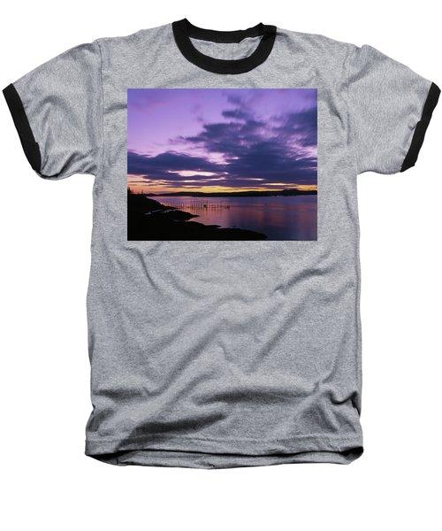 Herring Weir, Sunset Baseball T-Shirt