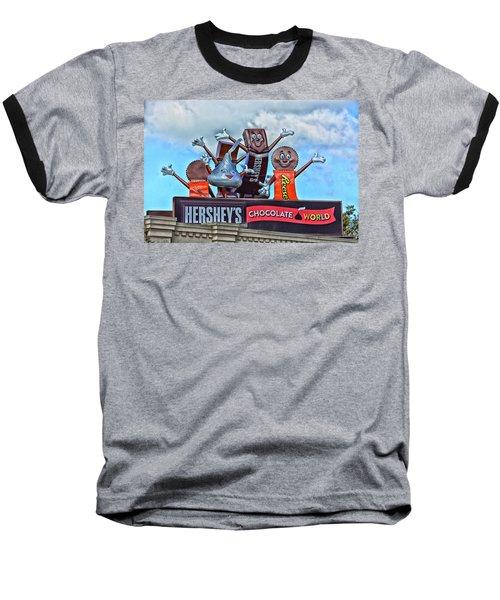 Hershey's Chocolate World Sign Baseball T-Shirt