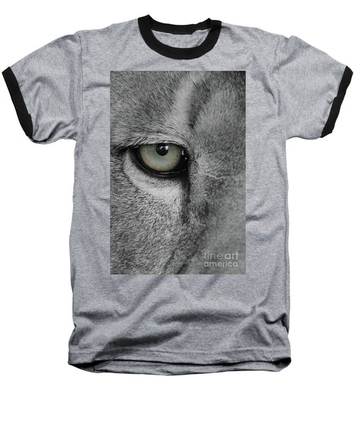 He's Watching Me  Black And White  T O C Baseball T-Shirt
