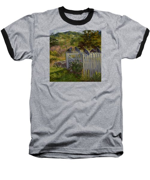 Hey Look Here Baseball T-Shirt by Jane Thorpe