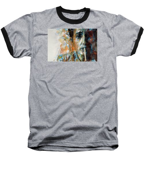 Hey Mr Tambourine Man @ Full Composition Baseball T-Shirt by Paul Lovering