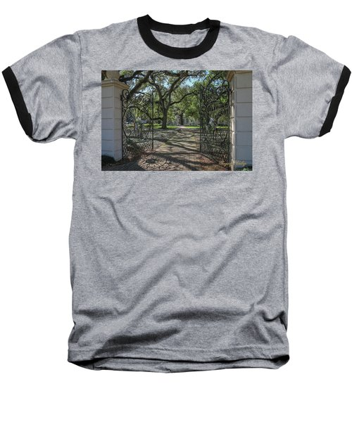 Baseball T-Shirt featuring the photograph Heyman House Gates 1 by Gregory Daley  PPSA