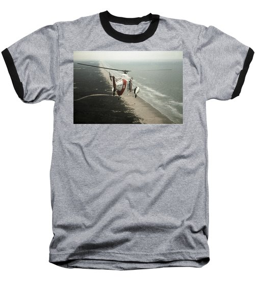 Hh-52a Beach Patrol Baseball T-Shirt by Steven Sparks