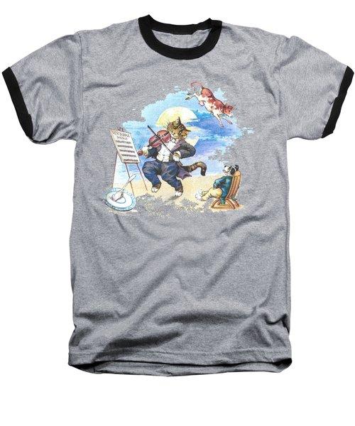 Hi Diddle Diddle T-shirt Baseball T-Shirt by Herb Strobino
