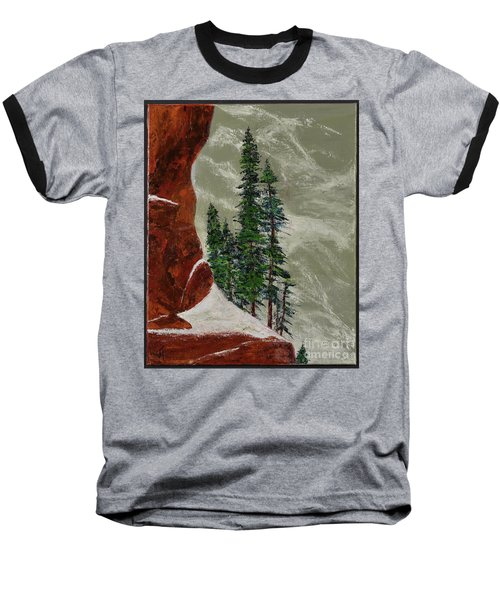 Hi Mountain Pine Trees Baseball T-Shirt