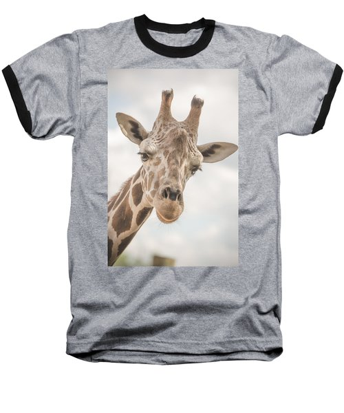 Hi There, I'm A Giraffe Baseball T-Shirt by David Collins