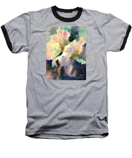 Hibicus Up Close Baseball T-Shirt by Kathy Braud