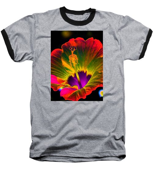 Hibiscus 01 - Summer's End - Photopower 3189 Baseball T-Shirt