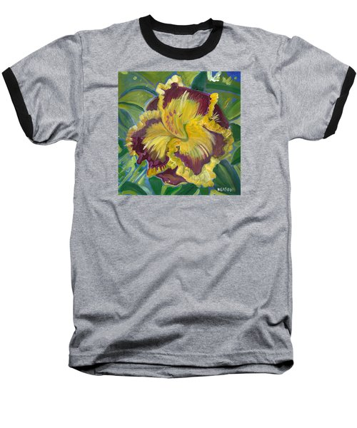 Baseball T-Shirt featuring the painting Hibiscus 2 by John Keaton
