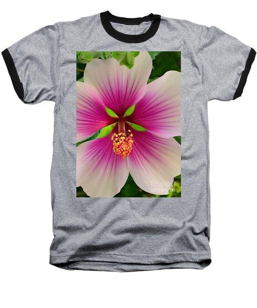 Hibiscus Face Baseball T-Shirt