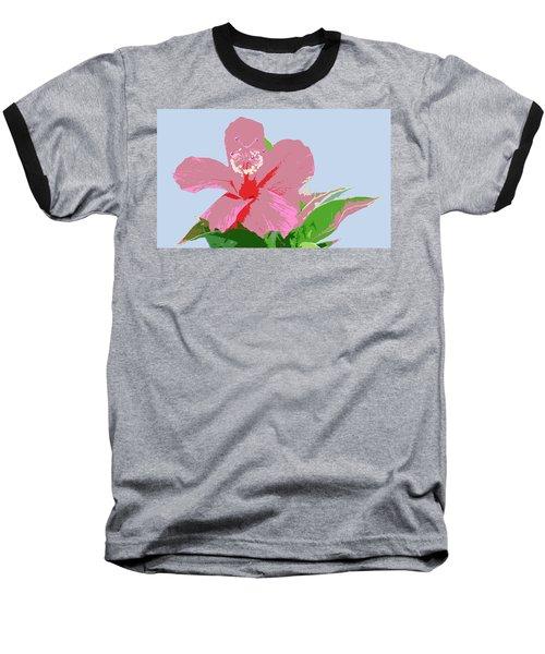 Hibiscus Flower Art - 2 Baseball T-Shirt by Karen Nicholson