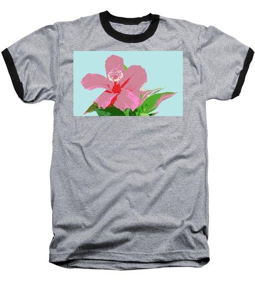 Hibiscus Flower Art - 3 Baseball T-Shirt by Karen Nicholson