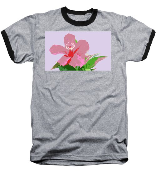 Hibiscus Flower Art Baseball T-Shirt by Karen Nicholson