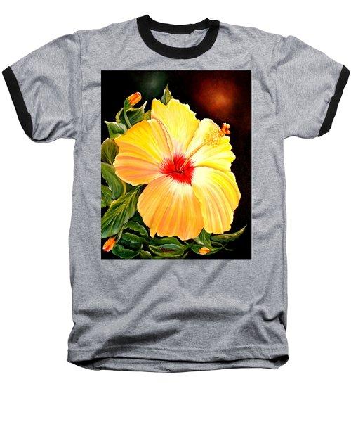 Hibiscus Glory Baseball T-Shirt