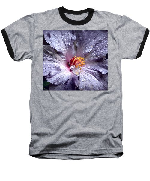 Hibiscus In The Rain Baseball T-Shirt