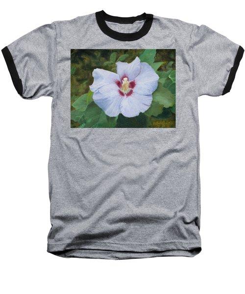 Hibiscus Baseball T-Shirt by Joshua Martin