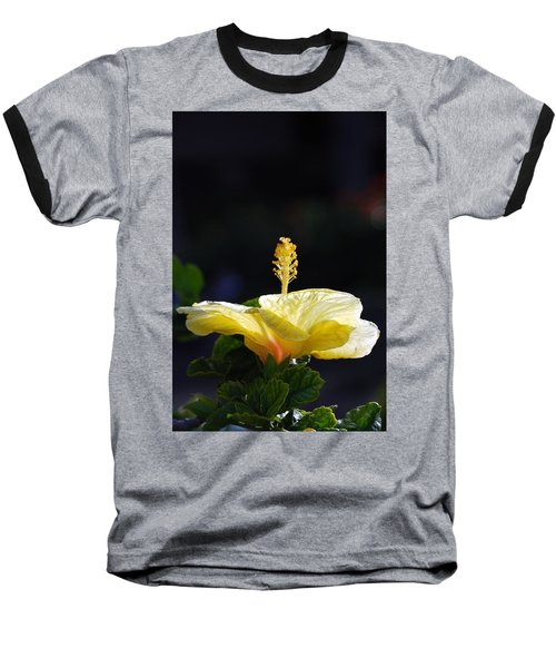 Baseball T-Shirt featuring the photograph Hibiscus Morning by Debbie Karnes