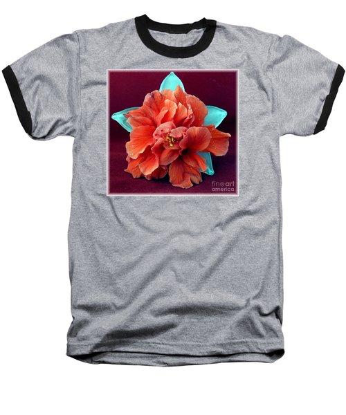 Hibiscus On Glass Baseball T-Shirt by Barbie Corbett-Newmin