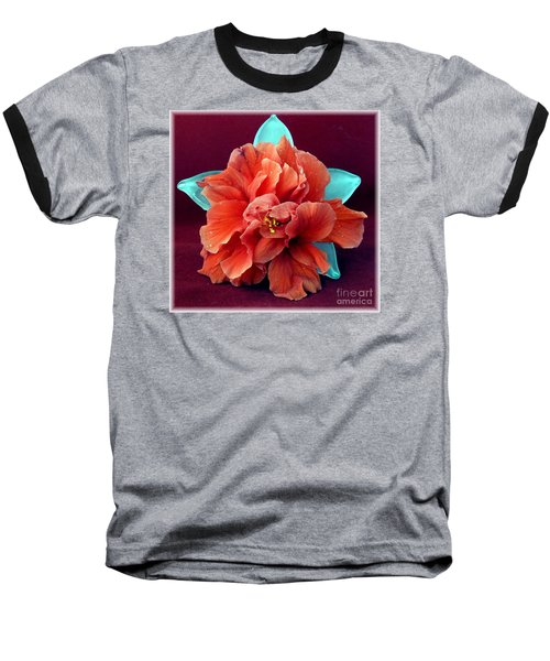 Hibiscus On Glass Baseball T-Shirt