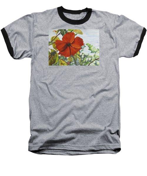 Hibiscus St Thomas Baseball T-Shirt