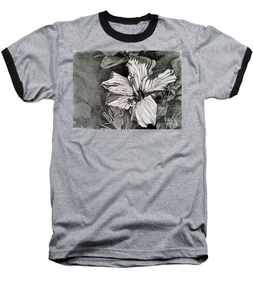 Baseball T-Shirt featuring the drawing Hibiscus by Terri Mills