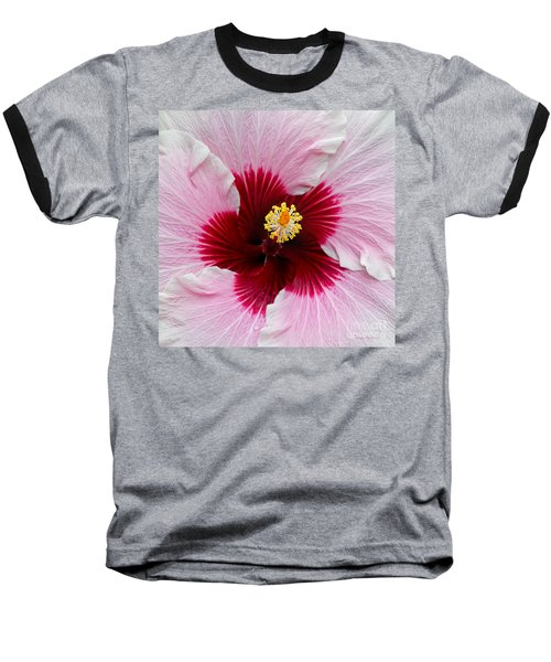 Hibiscus With Cherry-red Center Baseball T-Shirt