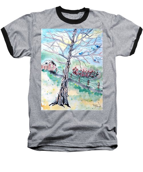 Baseball T-Shirt featuring the painting Hickory by Denise Tomasura