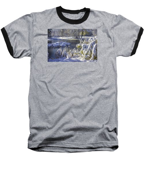 Hickory Nut Grove Landscape Baseball T-Shirt by Raymond Kunst