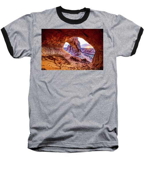 Hidden Alcove Baseball T-Shirt by Chad Dutson