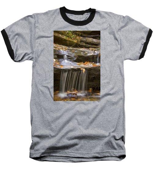 Baseball T-Shirt featuring the photograph Hidden Falls Detail by Bob Decker