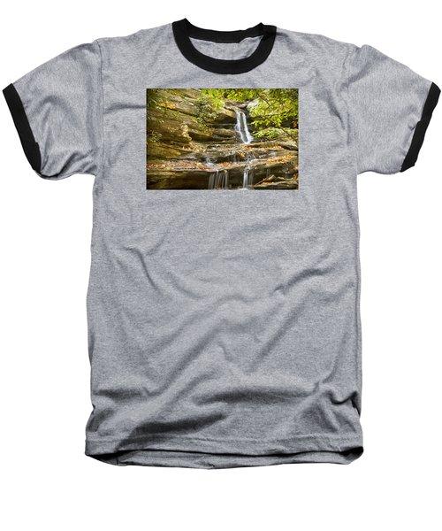 Baseball T-Shirt featuring the photograph Hidden Falls-hanging Rock State Park by Bob Decker