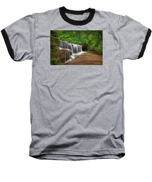 Hidden Falls  Baseball T-Shirt by Rikk Flohr