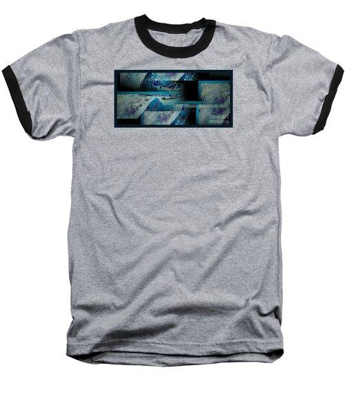 Hidden Gecko  Baseball T-Shirt by Pamela Blizzard