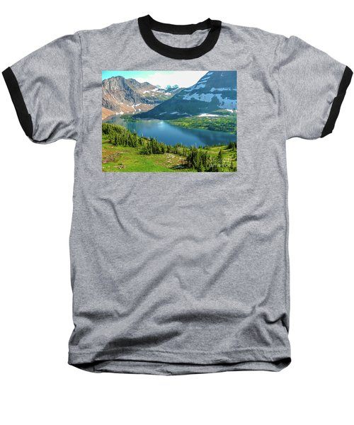 Hidden Lake Glacier National Park Baseball T-Shirt