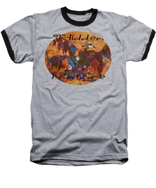 Hidden Nature - Abstract Baseball T-Shirt by Anita Faye