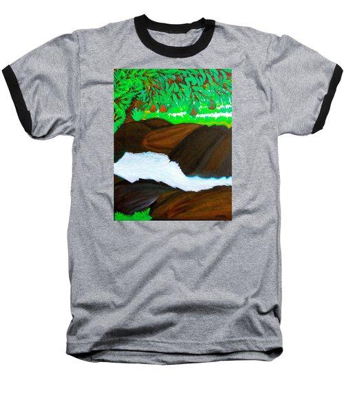 Hidden Paradise Baseball T-Shirt by Lorna Maza