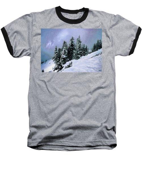 Baseball T-Shirt featuring the photograph Hidden Peak by Jim Hill