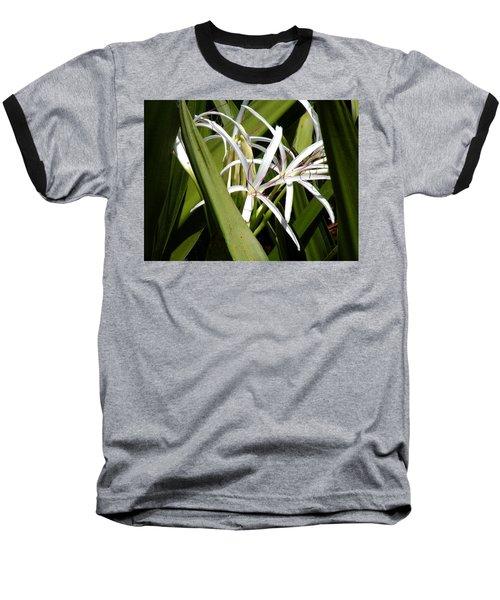 Baseball T-Shirt featuring the photograph Hidden Swamp Lily by Rosalie Scanlon