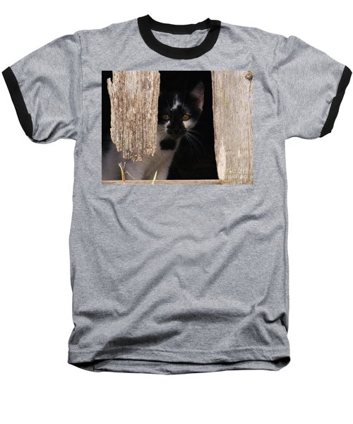 Hide And Seek Baseball T-Shirt by J L Zarek