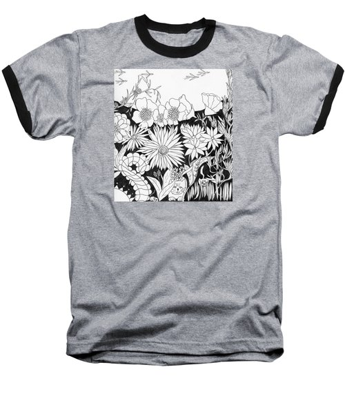 Hide And Seek Baseball T-Shirt by Lou Belcher