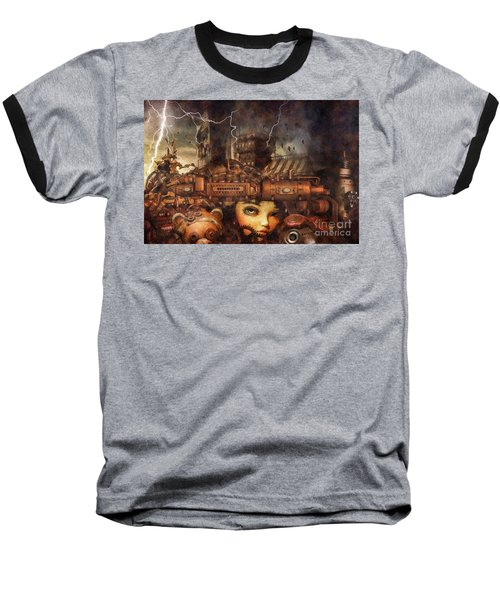 Baseball T-Shirt featuring the drawing Hide And Seek by Mo T