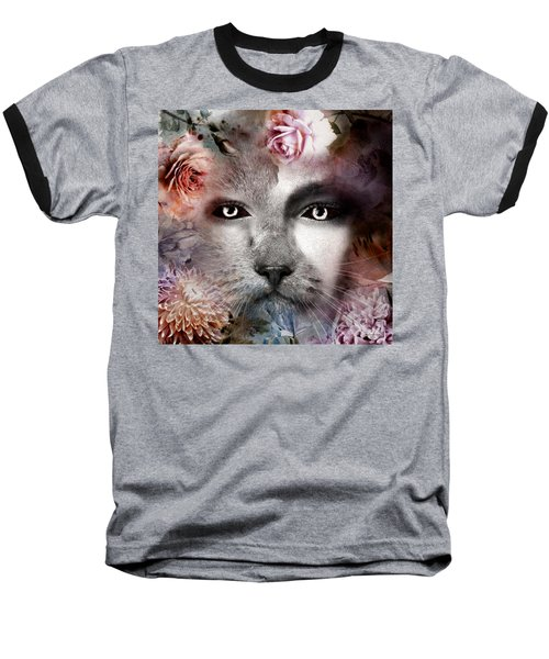 Hiding Catlady Baseball T-Shirt