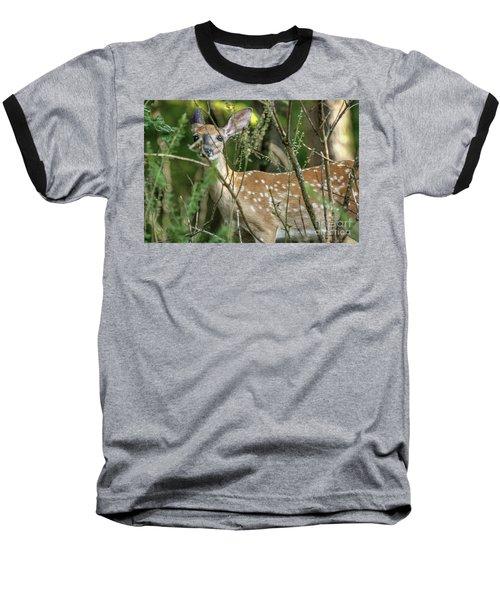 Hiding Fawn Baseball T-Shirt